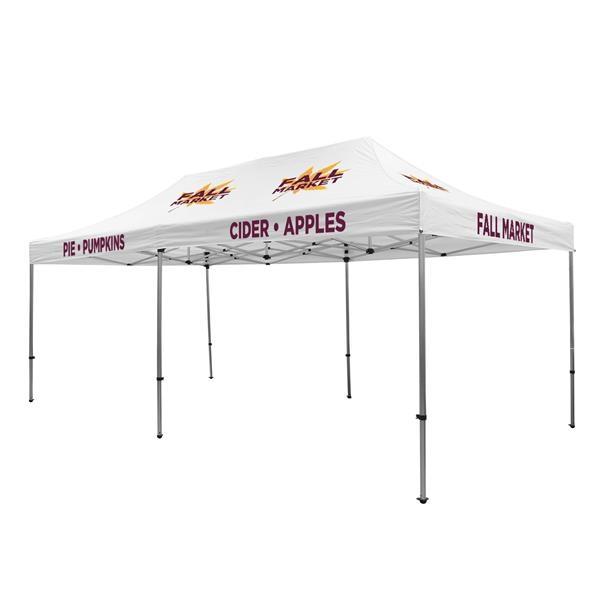 Premium Aluminum 20' Tent Kit (Imprinted, 12 Locations)