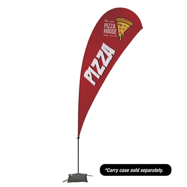 13' Value Teardrop Sail Sign - 1-Sided with Cross Base