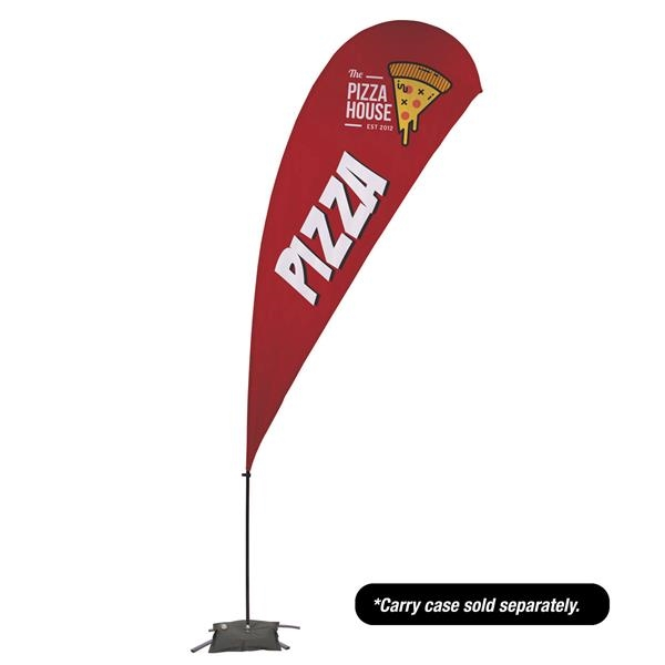 13' Value Teardrop Sail Sign - 2-Sided with Cross Base