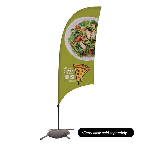7.5' Value Razor Sail Sign - 1-Sided with Cross Base