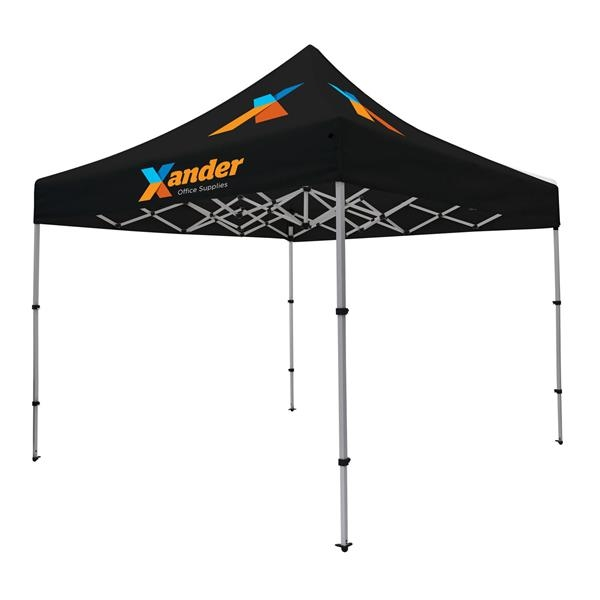Compact 10' Tent Kit (Full-Color Imprint, 3 Locations)
