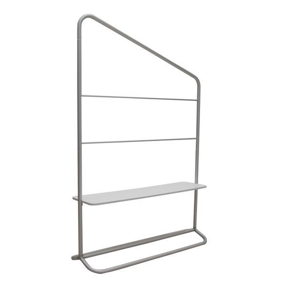"4' x 71"" EuroFit Evolution Lower-Shelf Incline Hardware"