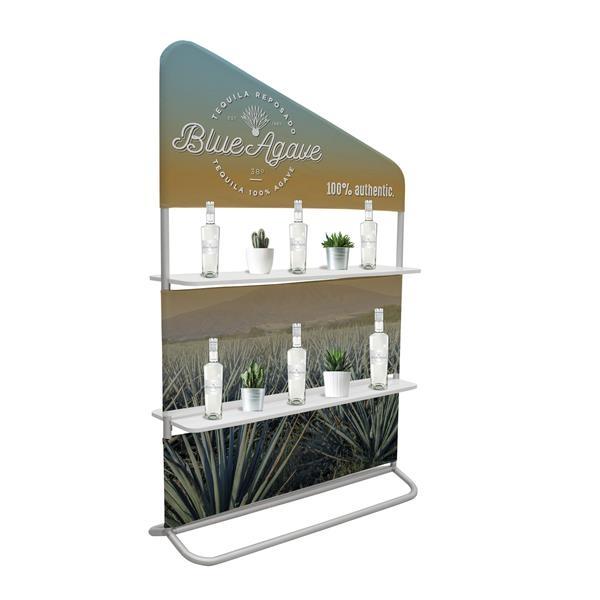 "4' x 71"" EuroFit Evolution Two-Shelf Incline Wall"