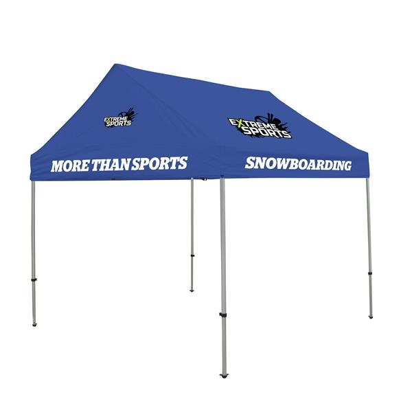 10' Premium Gable Tent Kit  4 Location Full-Color Imprint