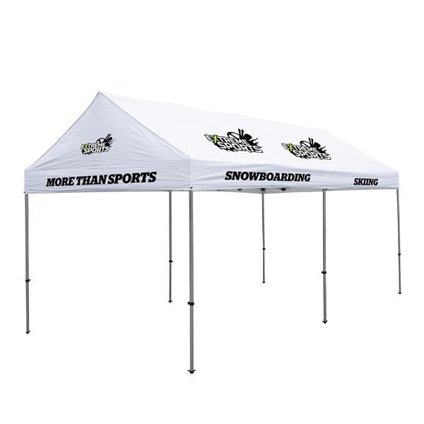 10' x 20' Premium Gable Tent Kit - 7 Location Imprint