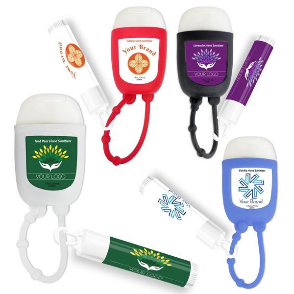 Hand Sanitizer Gel Pocket Bottle & Lip B