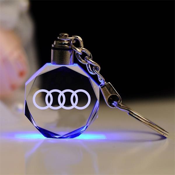 colorful glass LED keyring