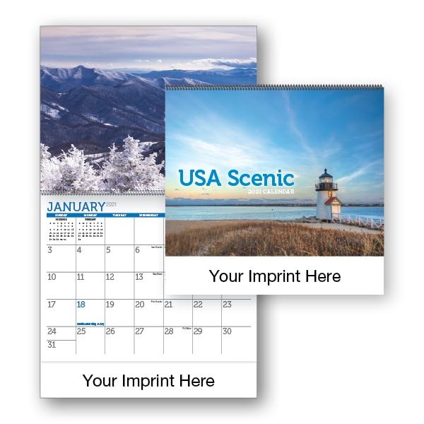 2021 USA Scenic Spiral Bound Calendar
