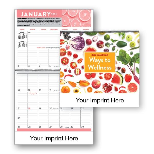 2021 Ways to Wellness Spiral Bound Calendar