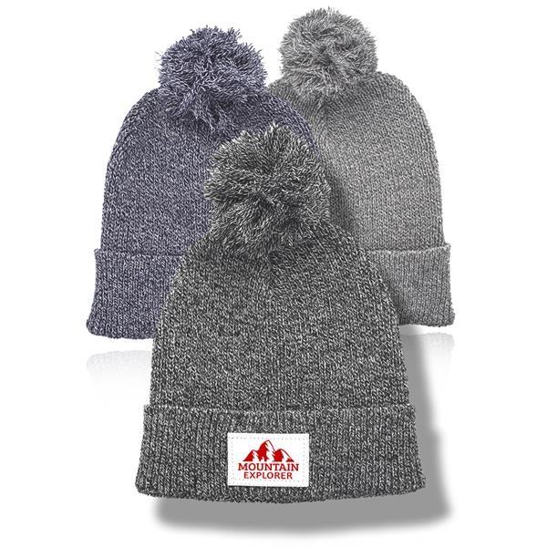 DPH Explorer Knitted Beanie Pom Pom Hat