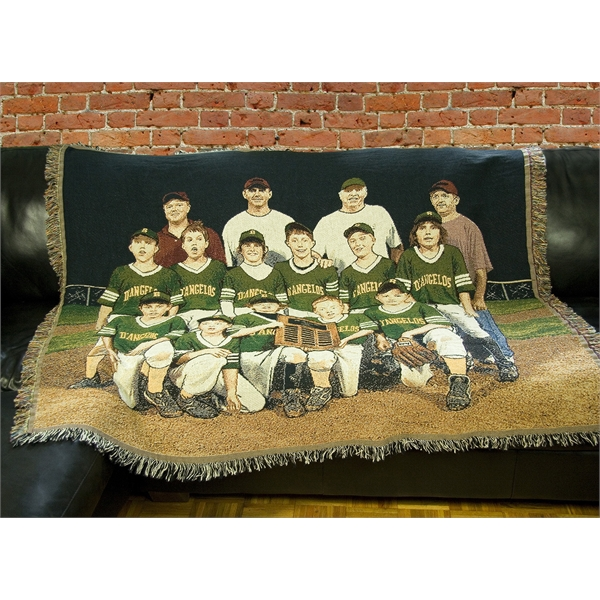 Custom Photo Tapestry Throw Blanket, size M
