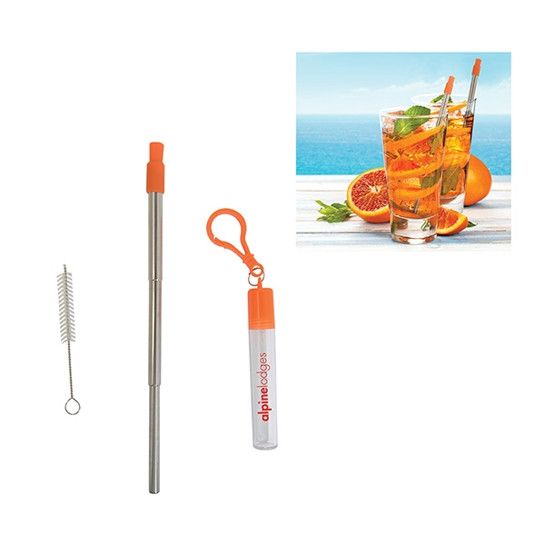 THERMOSPHERE TELESCOPIC STAINLESS STRAW IN CASE