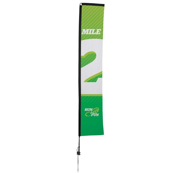 14.5' Premium Rectangle Sail Sign, 1-Sided, Ground Spike