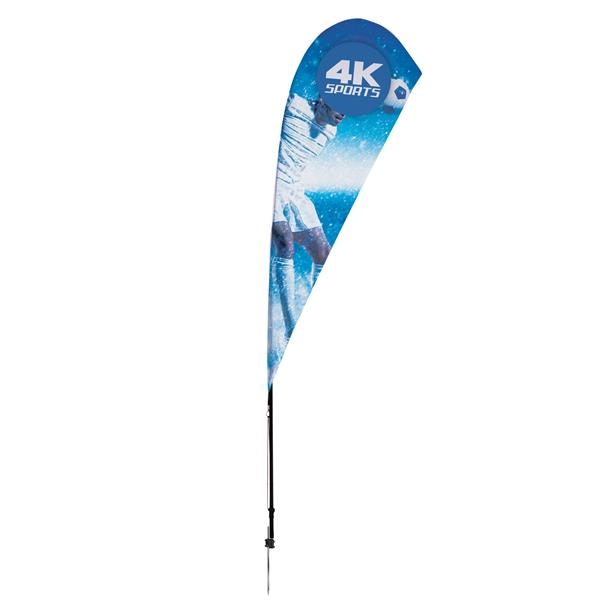 8' Streamline Teardrop Sail Sign - 1-Sided with Ground Spike