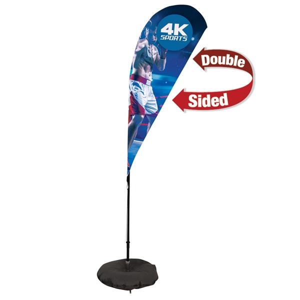 6' Streamline Teardrop Sail Sign,2-Sided,3-Leg Scissor Base