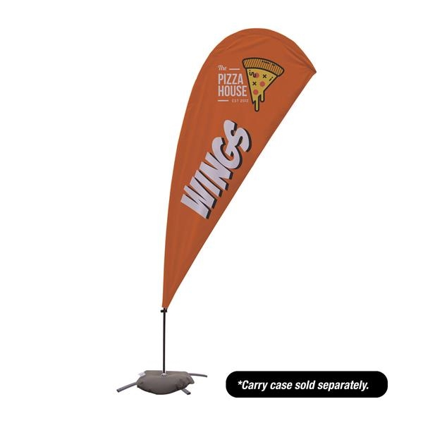 9.5' Value Teardrop Sail Sign- 2-Sided with Cross Base