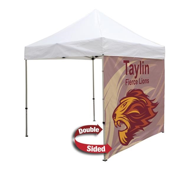 Double-Sided 8' Tent Full Wall (Dye Sublimation)