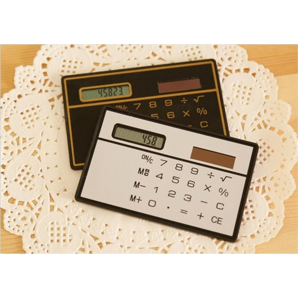Promotional Solar Power Credit Card Size Super Thin 8 Digit