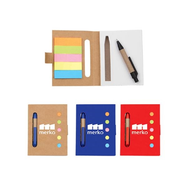 Notebook with Stickers and Pen