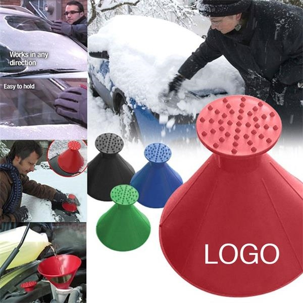 2 in 1 Cone-Shaped Car Screen Ice Remover