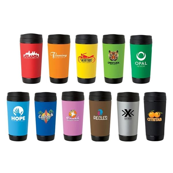 Perka® Hibiscus I 17oz Insulated Mug