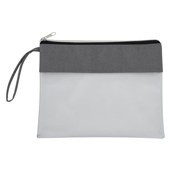 Heathered Frost Wristlet Pouch
