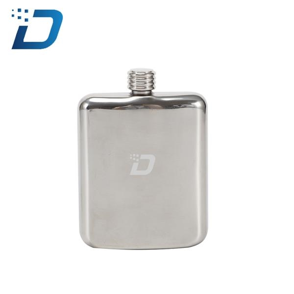 7 OZ Stainless Steel Shaped Hip Flask