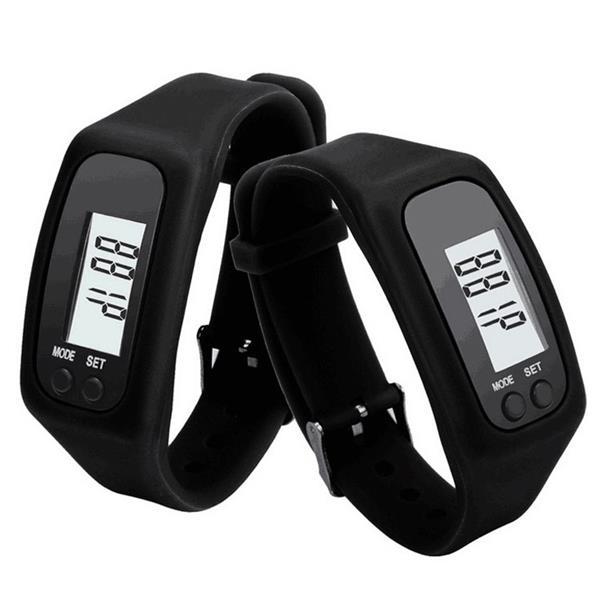 Digital Watch Pedometer Wristwatch
