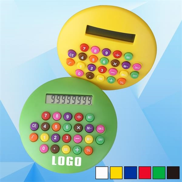 4 1/2'' Calculator w/ Rainbow Keys