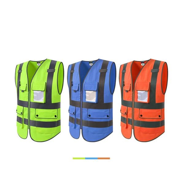 High Visibility Reflective Safety Vest with 5 Pockets