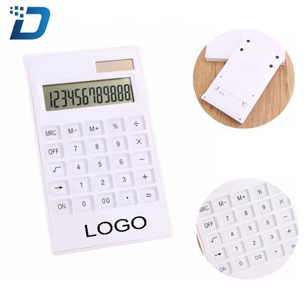 White Desk Top Electronic Calculator