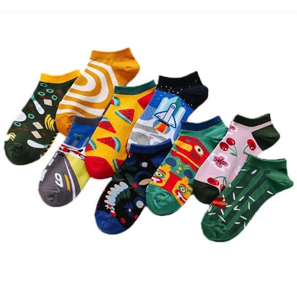 Colorful Ankle Socks Low Cut Socks No Show Socks