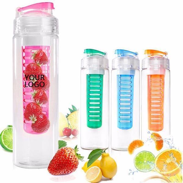 24oz Fruit Infuser Water Bottle Lemon Cap Water Bottle