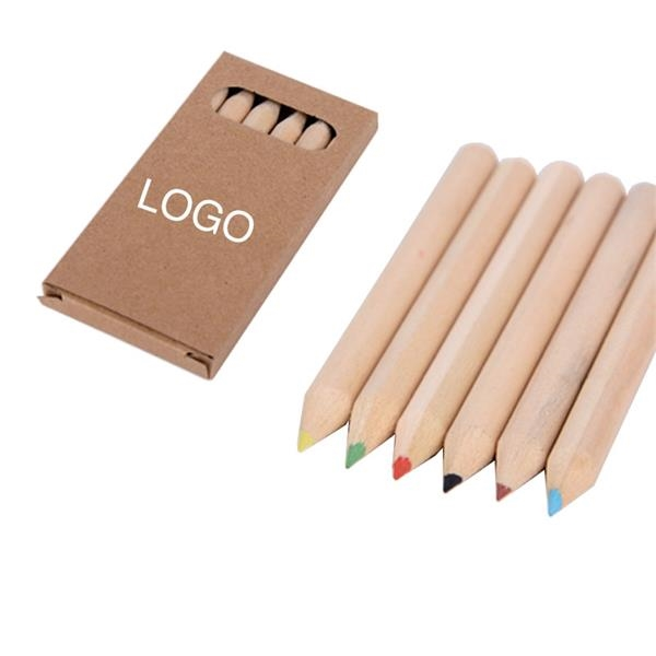 6 Color Natural Wood Colored Pencil