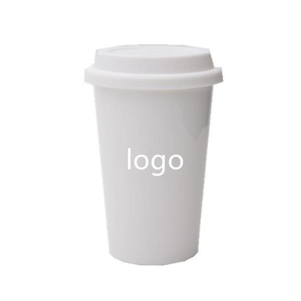 Coffee Mug with Silicone Lid and Sleeve