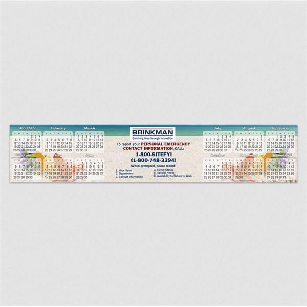 "Jumbo Adhesive Calendar Strip (3"" x 15"")"
