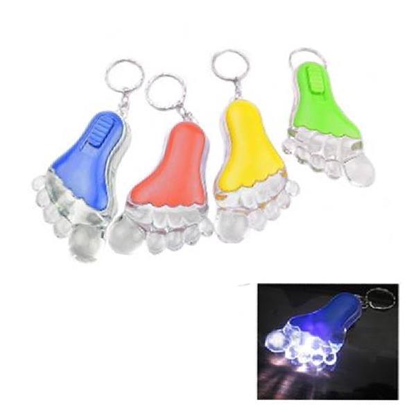 Foot Shaped LED Keychain Light