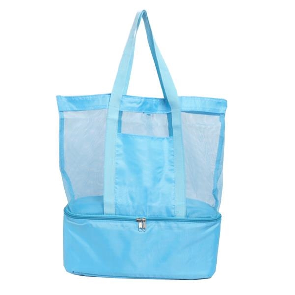 Beach Bag with Insulated Bottom