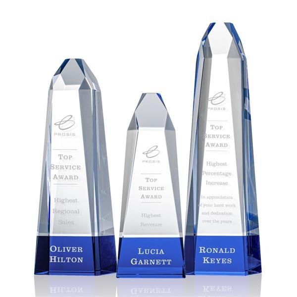 Radiant Obelisk Award - Blue