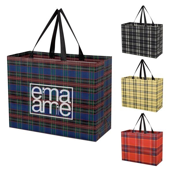 Soho Tartan Laminated Non-Woven Shopper Bag