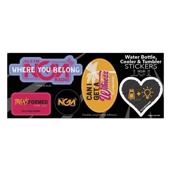 Water Bottle, Cooler & Tumbler Stickers