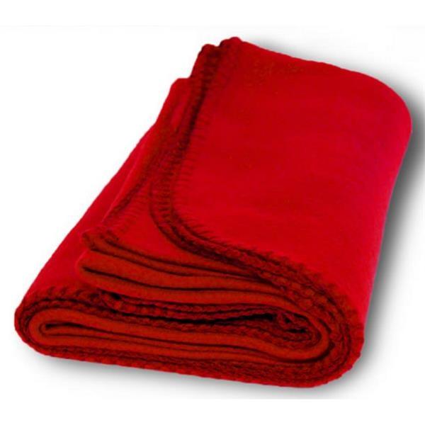 Budget Fleece Throw Blanket - Red