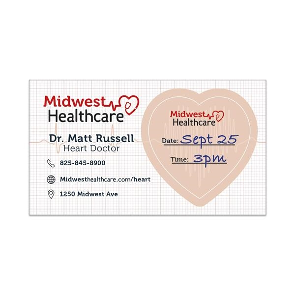 Appointment Reminder Cards & Adhesive Business Cards