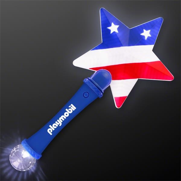 US Flag Star Light Up Wand