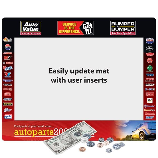 """Super Duty Window Counter Mat-16""""x20""""x1/8"""""""