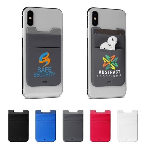 Lycra Dual Phone Pocket & Wireless Earbud Holder