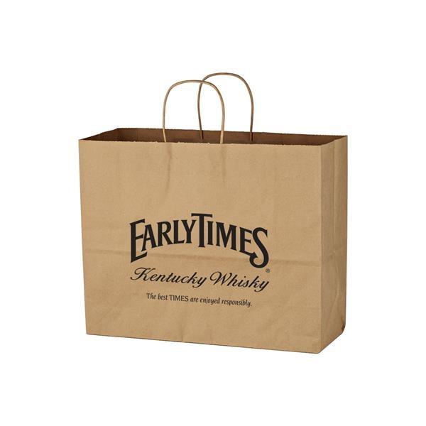 """Kraft Paper Brown Shopping Bag - 16"""" x 12-1/2"""""""