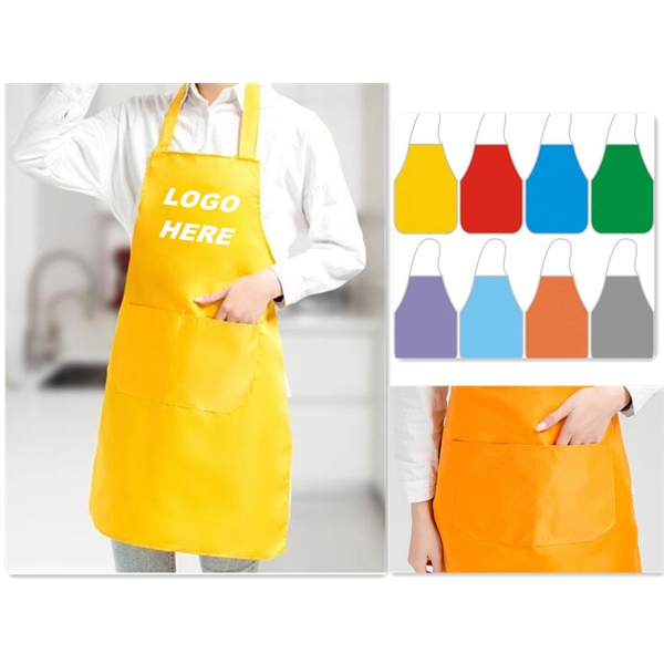 Polyester Bib Apron with Two Pockets