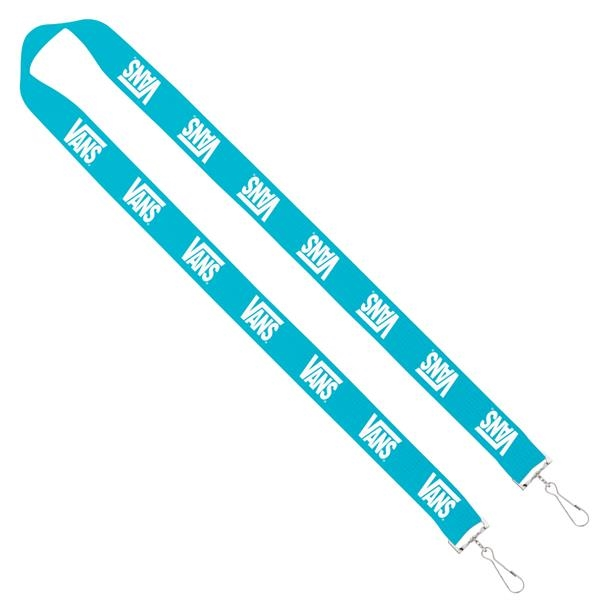 "Import Rush 1"" Polyester Sewn 2-Ended Lanyard"