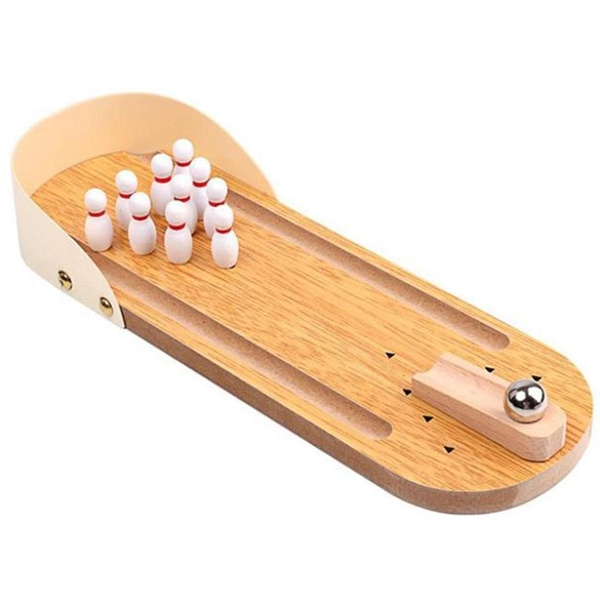 Children's educational wooden mini bowling